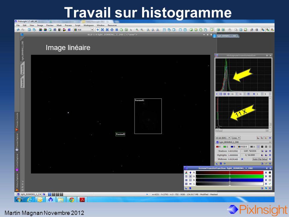 Travail sur histogramme Martin Magnan Novembre 2012 Image linéaire 11 X