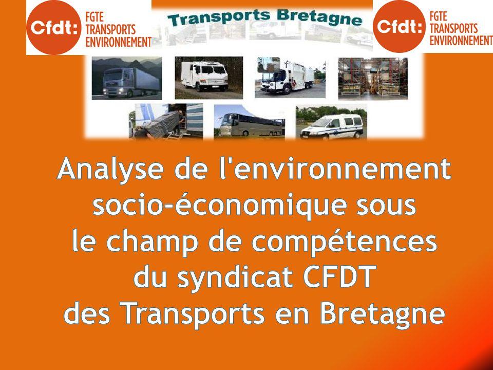 Le Syndicat des Transports agit principalement sur 7 secteurs d activités avec des réalités économiques et sociales contrastées.