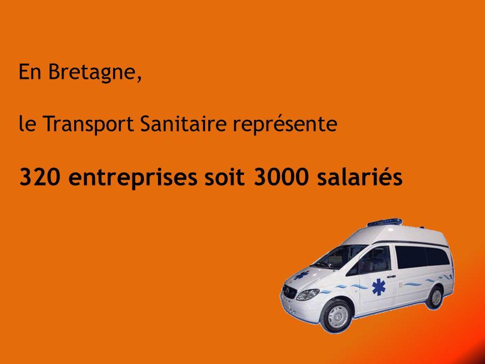 En Bretagne, le Transport Sanitaire représente 320 entreprises soit 3000 salariés