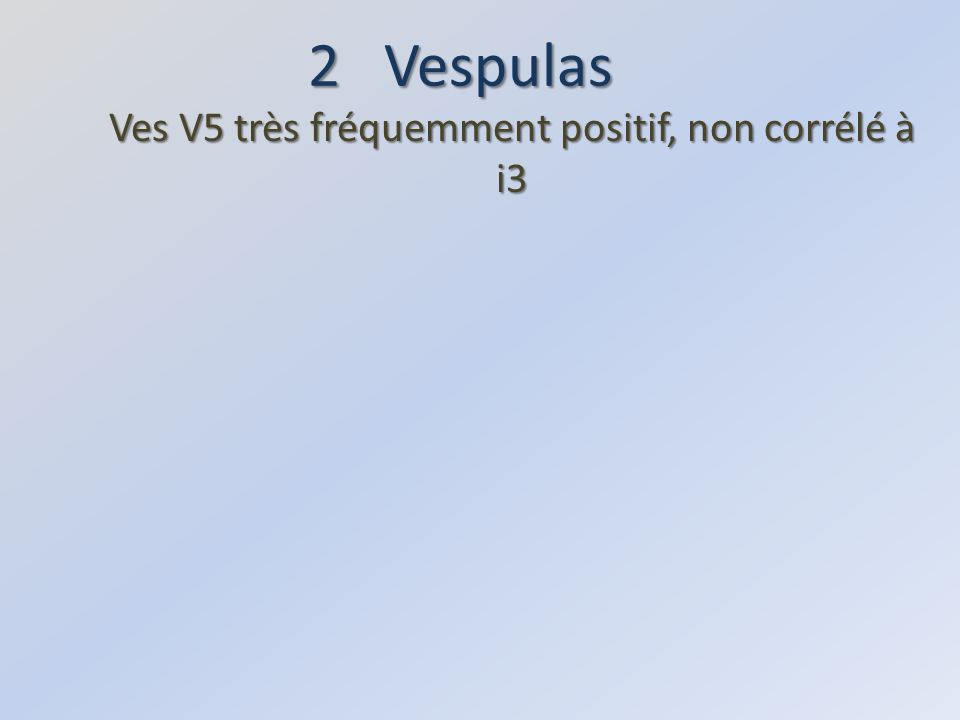 4 Vespa (Hornet) Carbohydrates : peu de positifs, souvent faibles