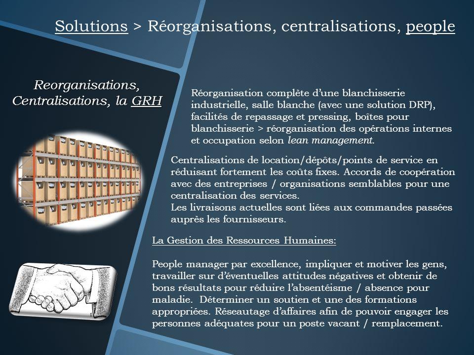 Reorganisations, Centralisations, la GRH Solutions > Réorganisations, centralisations, people La Gestion des Ressources Humaines: People manager par e