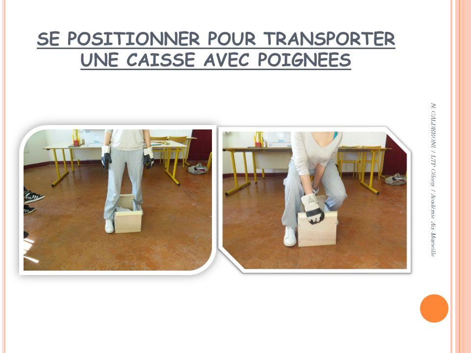 SE POSITIONNER POUR TRANSPORTER UNE CAISSE AVEC POIGNEES N. CALDERONI / LTP Célony / Académie Aix-Marseille