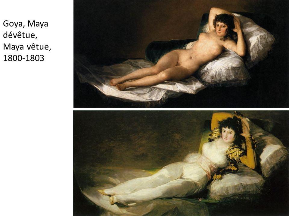 Goya, Maya dévêtue, Maya vêtue, 1800-1803