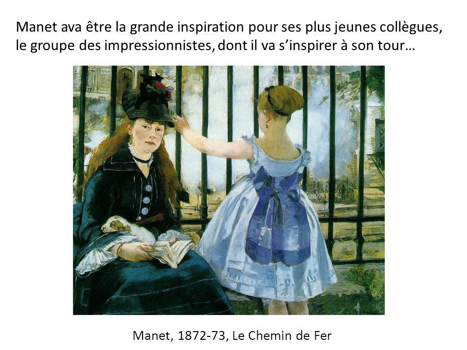 Manet, 1872-73, Le Chemin de Fer Manet ava être la grande inspiration pour ses plus jeunes collègues, le groupe des impressionnistes, dont il va sinspirer à son tour…