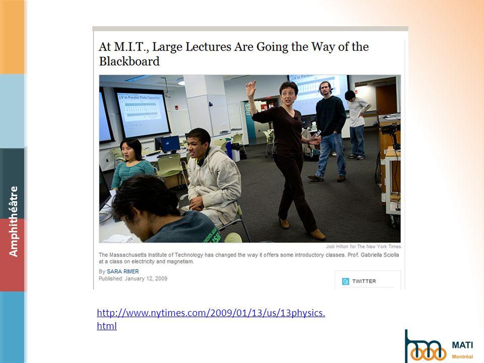 http://www.nytimes.com/2009/01/13/us/13physics. html Amphithéâtre