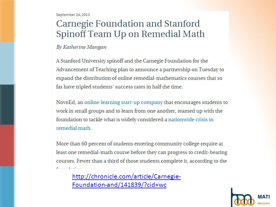 http://chronicle.com/article/Carnegie- Foundation-and/141839/?cid=wc