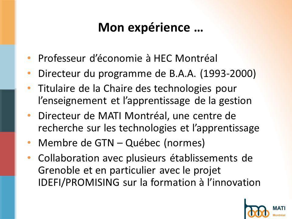 4 - MOOC https://edulib.hec.ca/portal Pourquoi? Réputation Responsabilité sociale Innovation