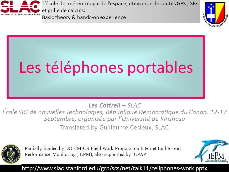 http://www.slac.stanford.edu/grp/scs/net/talk11/cellphones-work.pptx lécole de météorologie de lespace, utilisation des outils GPS, SIG et grille de c