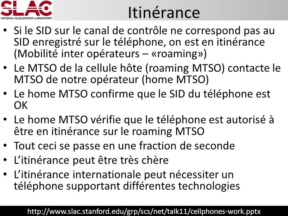 http://www.slac.stanford.edu/grp/scs/net/talk11/cellphones-work.pptx Si le SID sur le canal de contrôle ne correspond pas au SID enregistré sur le tél