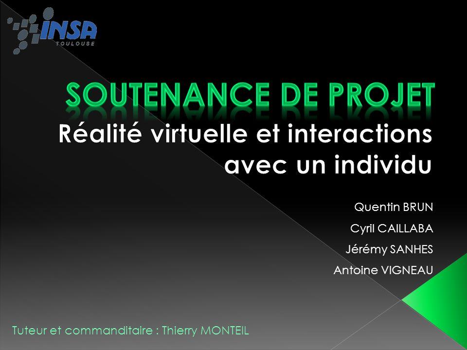 2 Réalité virtuelle et interactions avec un individu Introduction Diagramme de conception Scène 3D Contrôle de la scène Détection de point 3D Stéréoscopie Dessin Gestion de projet Conclusion