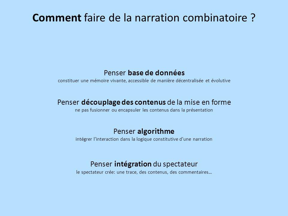 Comment faire de la narration combinatoire .