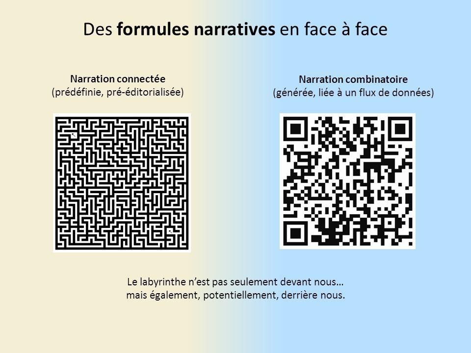 Des formules narratives en face à face Le labyrinthe nest pas seulement devant nous… mais également, potentiellement, derrière nous.