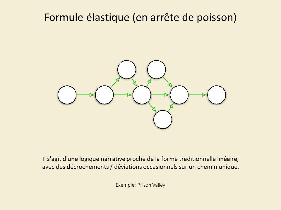 Formule en arborescence Cette structure est proche des CD-ROM ou des premières formes interactives liées à la création informatique (sites web statiques).