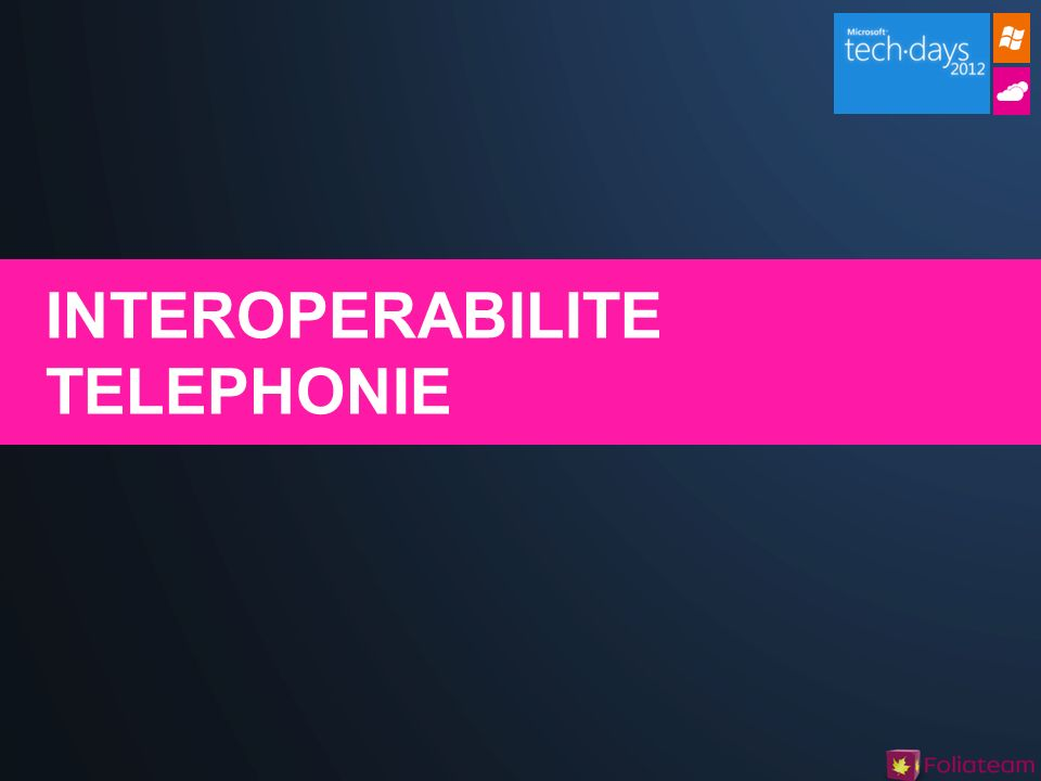 INTEROPERABILITE TELEPHONIE