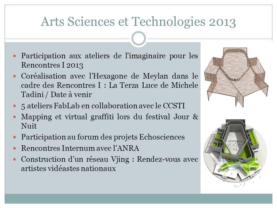 Arts Sciences et Technologies 2013 Participation aux ateliers de l'imaginaire pour les Rencontres I 2013 Coréalisation avec lHexagone de Meylan dans l