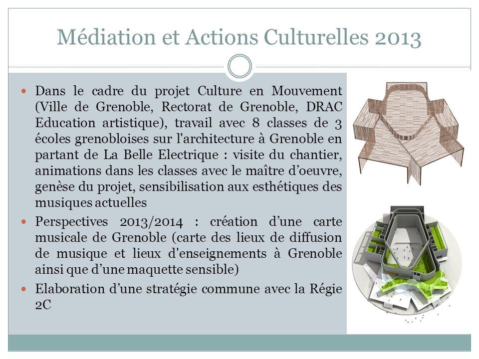 Médiation et Actions Culturelles 2013 Dans le cadre du projet Culture en Mouvement (Ville de Grenoble, Rectorat de Grenoble, DRAC Education artistique