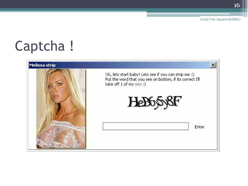 Captcha ! 16 Modal Web - Baptiste DESPREZ