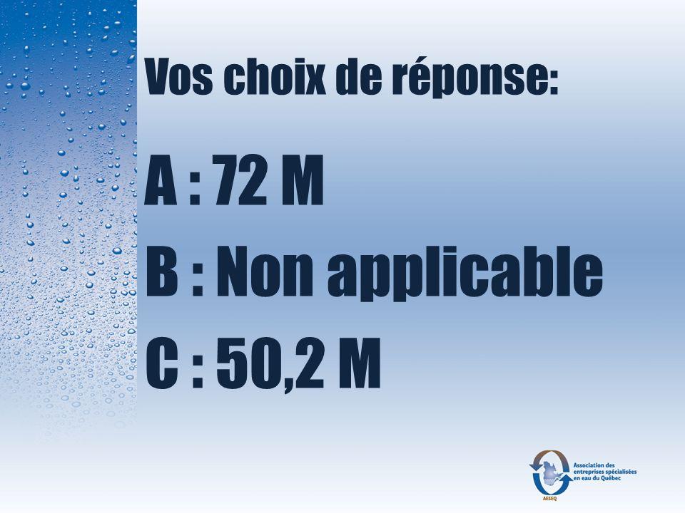 Question 17 Quelle est la condition qui nous permet dinstaller un système non étanche à 15 mètres dun puits de captage de consommation ?