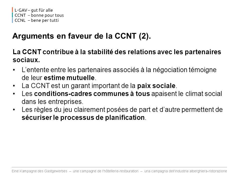 Arguments en faveur de la CCNT (2).