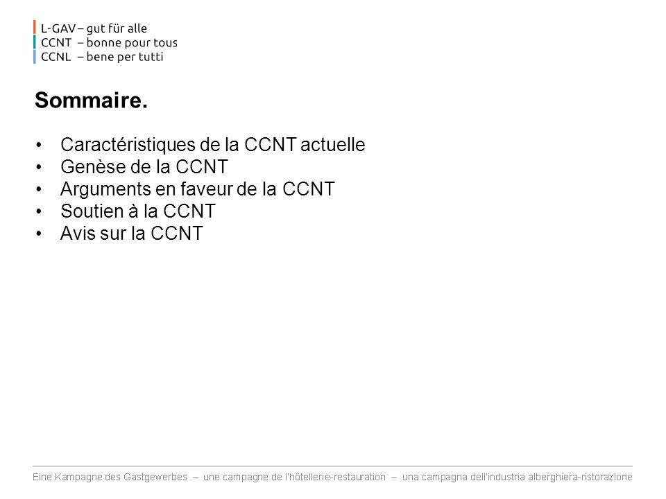 Caractéristiques de la CCNT (1).