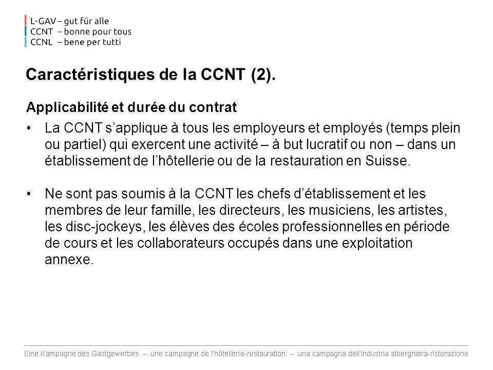 Caractéristiques de la CCNT (2).