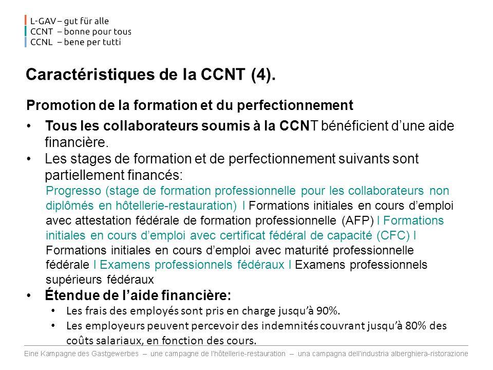 Caractéristiques de la CCNT (4).