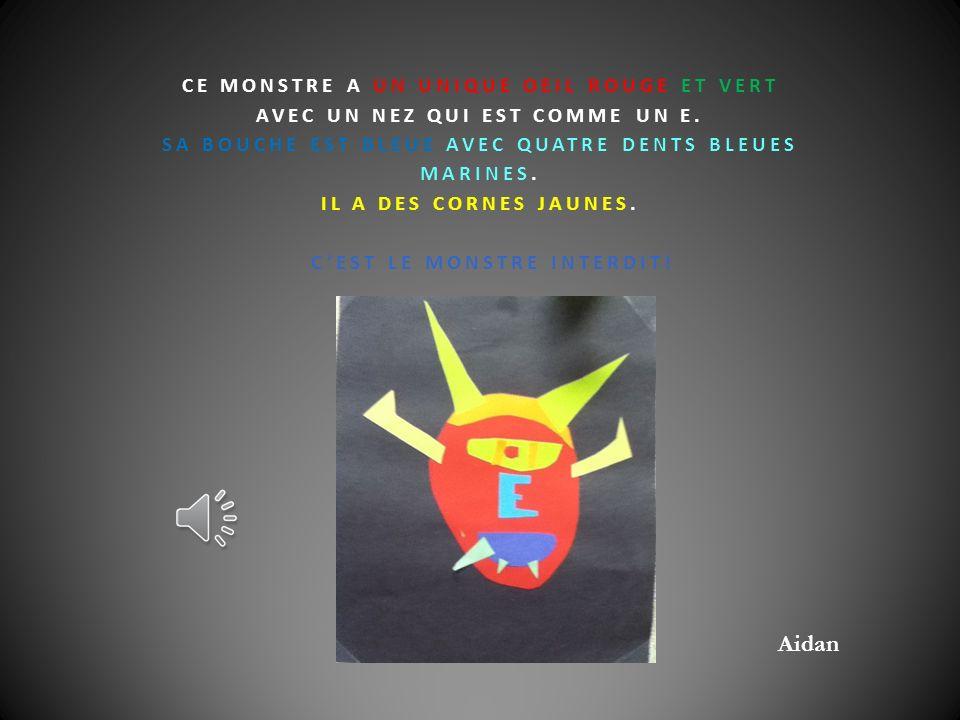 LE GRAND LIVRE DES MONSTRES Classe de Madame Carole 2012-2013