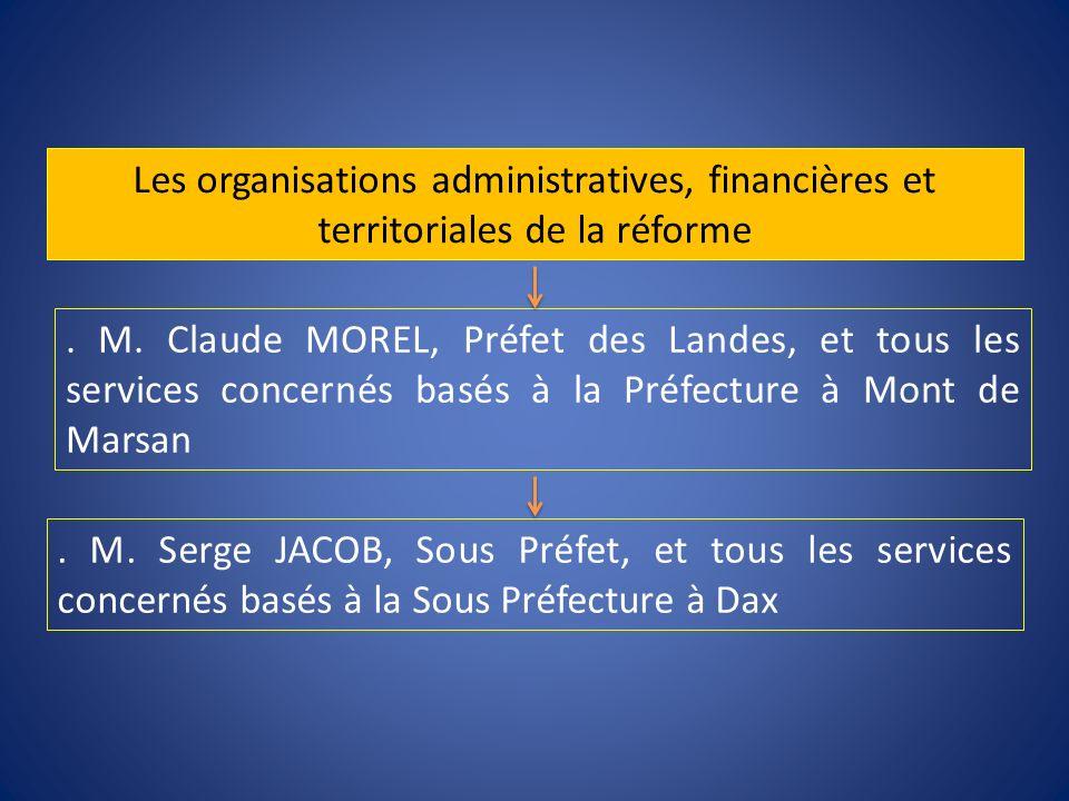 . M. Claude MOREL, Préfet des Landes, et tous les services concernés basés à la Préfecture à Mont de Marsan. M. Serge JACOB, Sous Préfet, et tous les