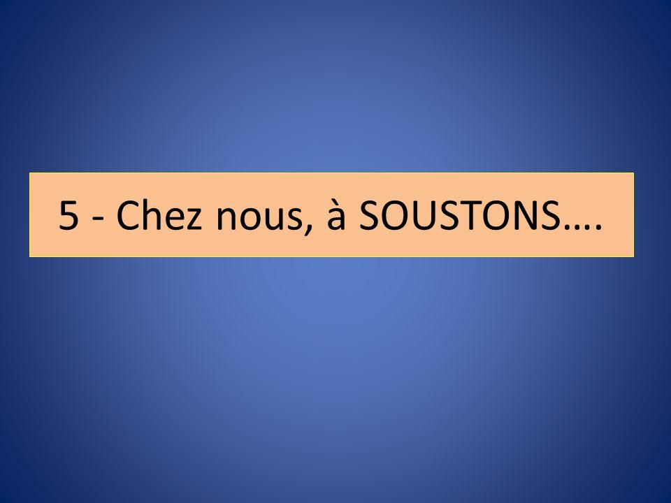 5 - Chez nous, à SOUSTONS….