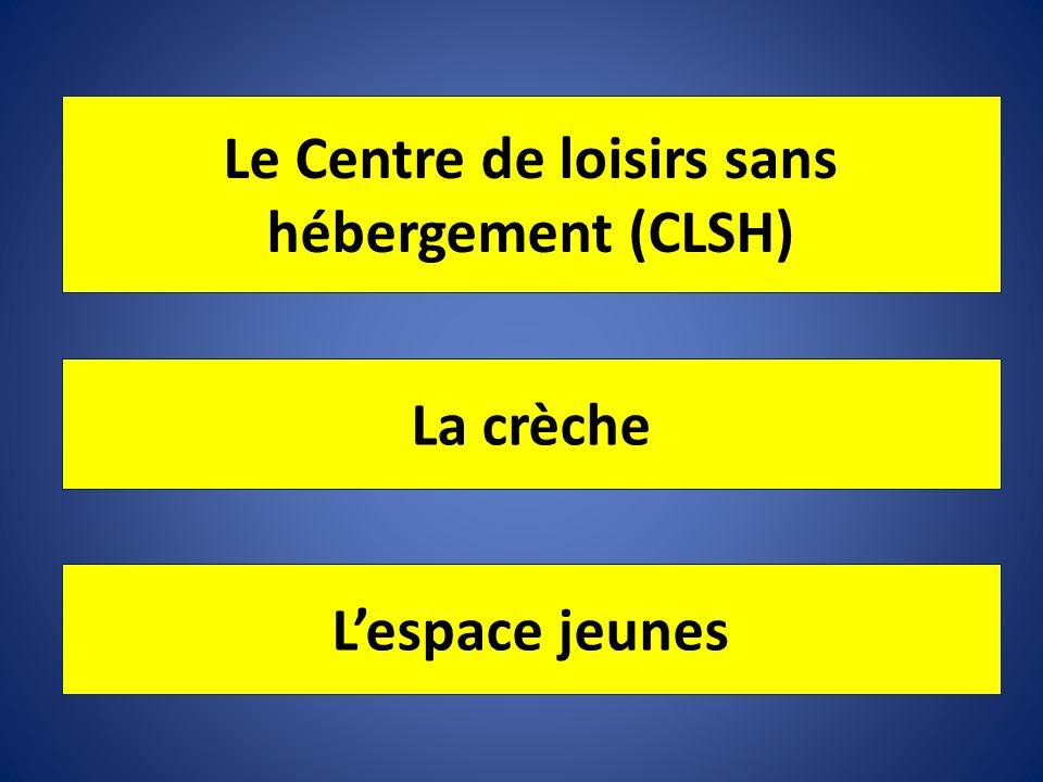 Le Centre de loisirs sans hébergement (CLSH) La crèche Lespace jeunes