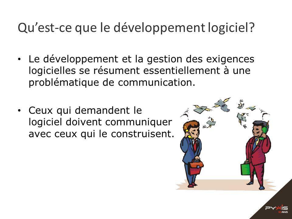 Quest-ce que le développement logiciel? Le développement et la gestion des exigences logicielles se résument essentiellement à une problématique de co