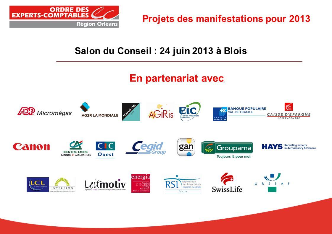 Salon du Conseil : 24 juin 2013 à Blois En partenariat avec Projets des manifestations pour 2013