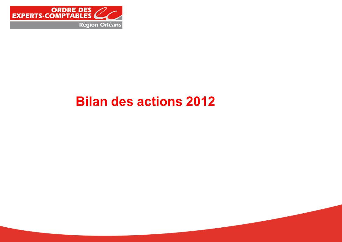 La Prestation de serment : 22 novembre 2012 19 prestataires En partenariat avec Bilan des actions 2012