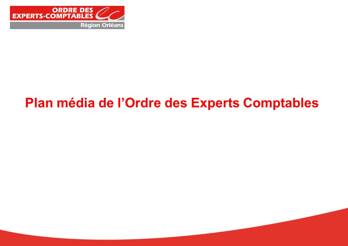 Plan média de lOrdre des Experts Comptables