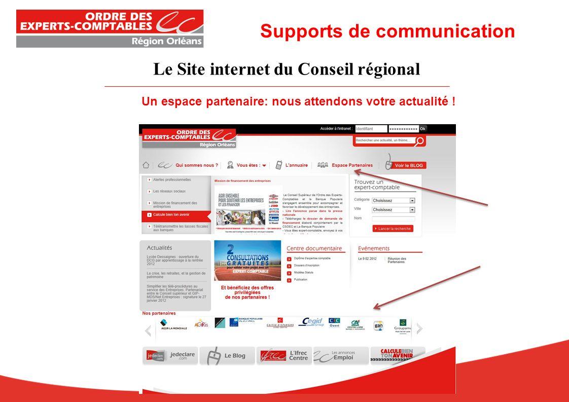 Le Site internet du Conseil régional Un espace partenaire: nous attendons votre actualité .