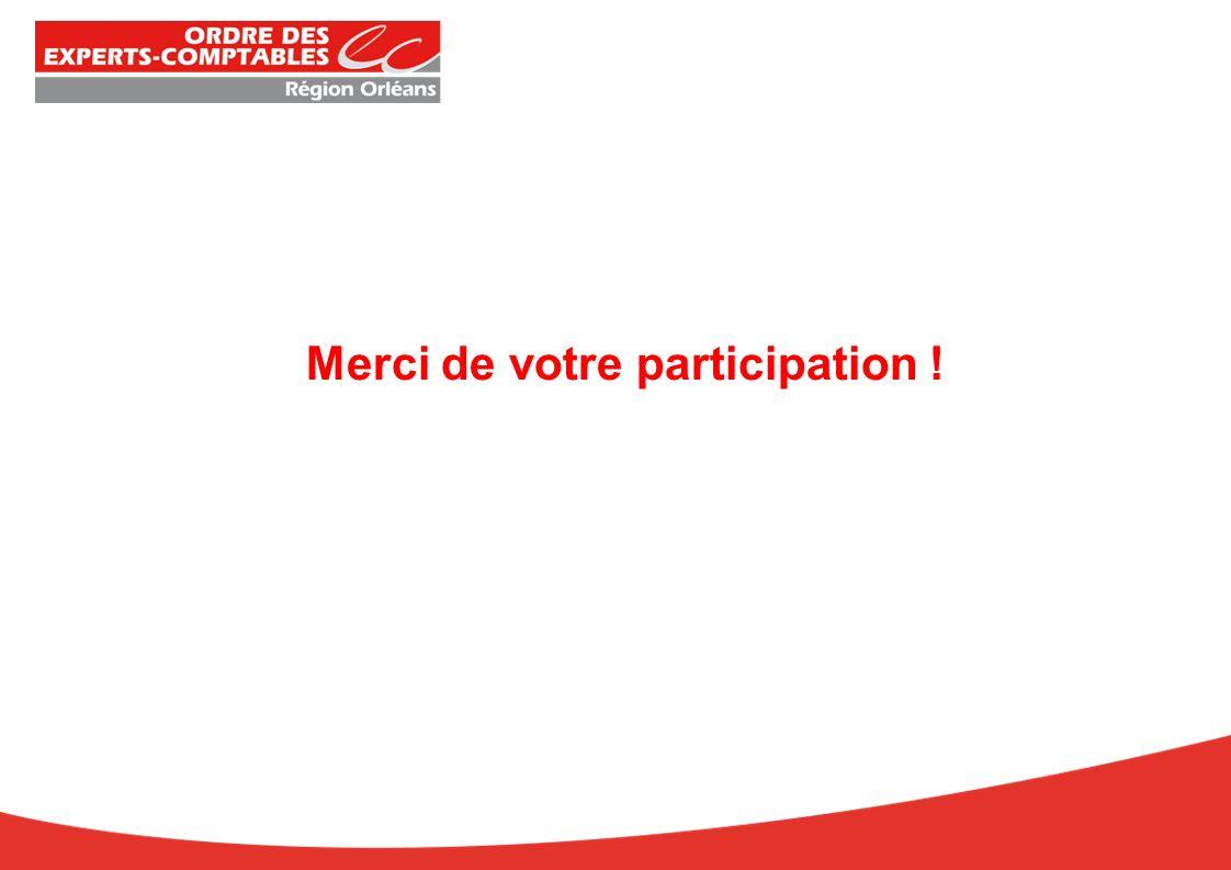 Merci de votre participation !