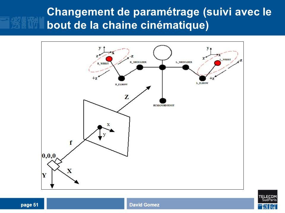 Changement de paramétrage (suivi avec le bout de la chaine cinématique) David Gomezpage 51
