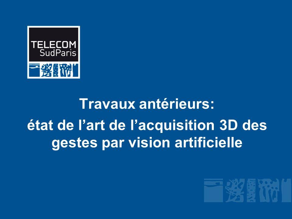 Travaux antérieurs: état de lart de lacquisition 3D des gestes par vision artificielle