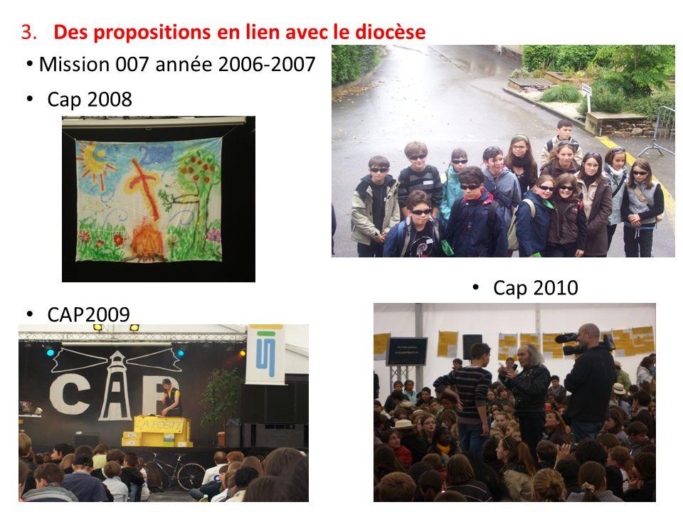 2. Des propositions en lien avec le doyenné Temps forts de profession de foi, Temps forts de confirmation, Marche du Mont St Michel (en 2008,2009) Sur