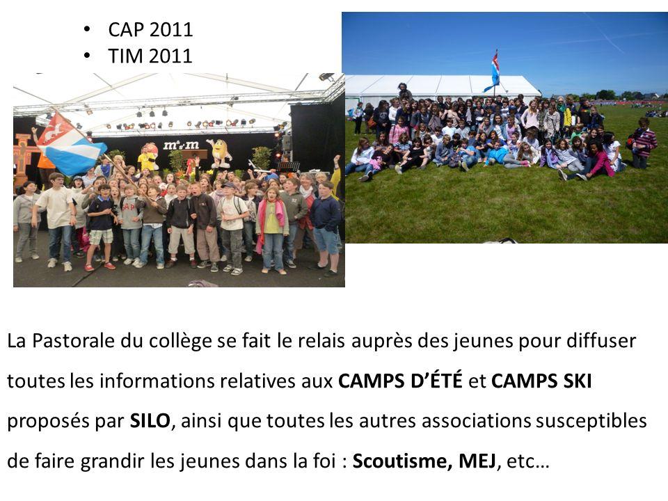 3. Des propositions en lien avec le diocèse Cap 2008 CAP2009 Cap 2010 Mission 007 année 2006-2007