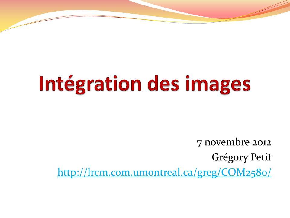 7 novembre 2012 Grégory Petit http://lrcm.com.umontreal.ca/greg/COM2580/