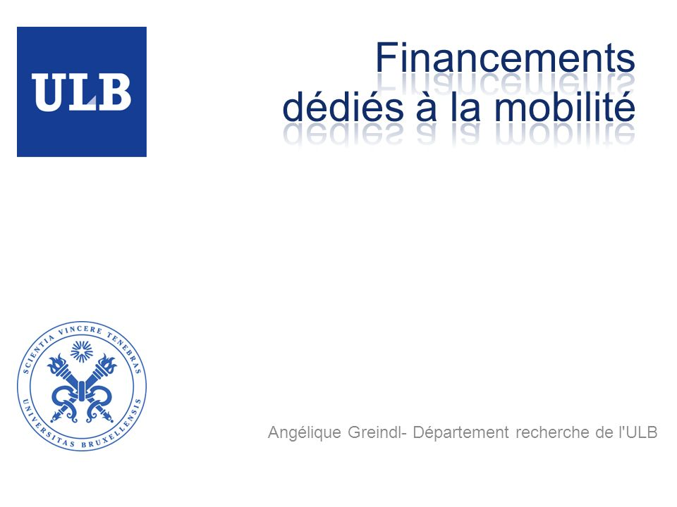 Angélique Greindl- Département recherche de l'ULB