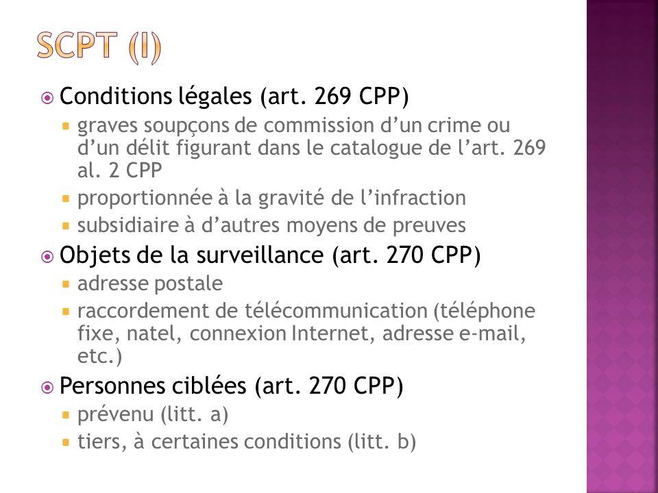 Conditions légales (art. 269 CPP) graves soupçons de commission dun crime ou dun délit figurant dans le catalogue de lart. 269 al. 2 CPP proportionnée