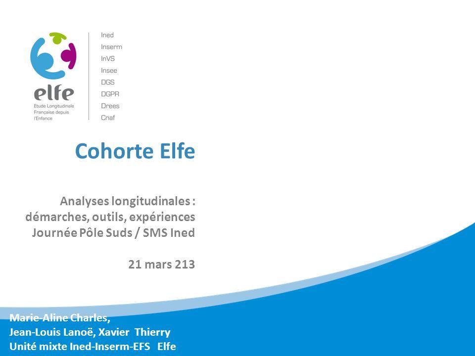 Plan Elfe: présentation générale (MA Charles) Lenquête en maternité : plan de sondage, réalisation (X.
