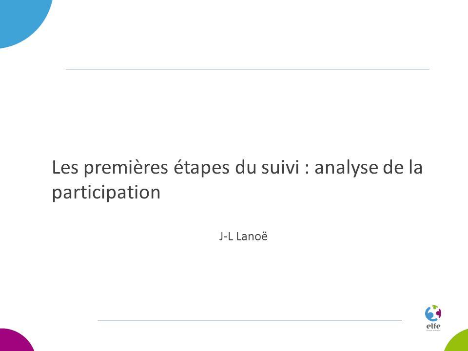 Les premières étapes du suivi : analyse de la participation J-L Lanoë
