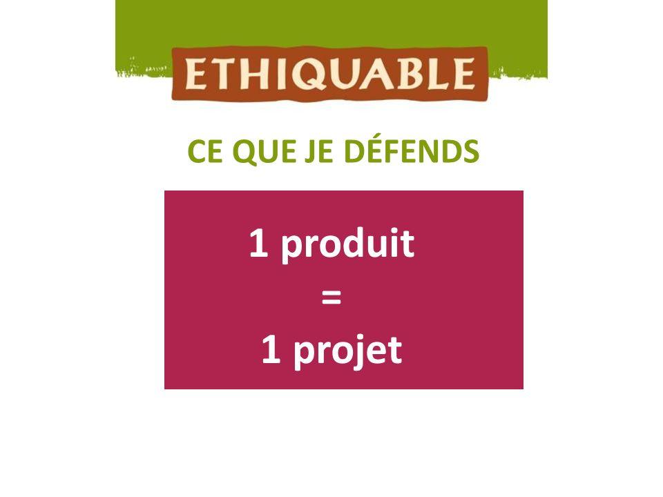 1 produit = 1 projet CE QUE JE DÉFENDS