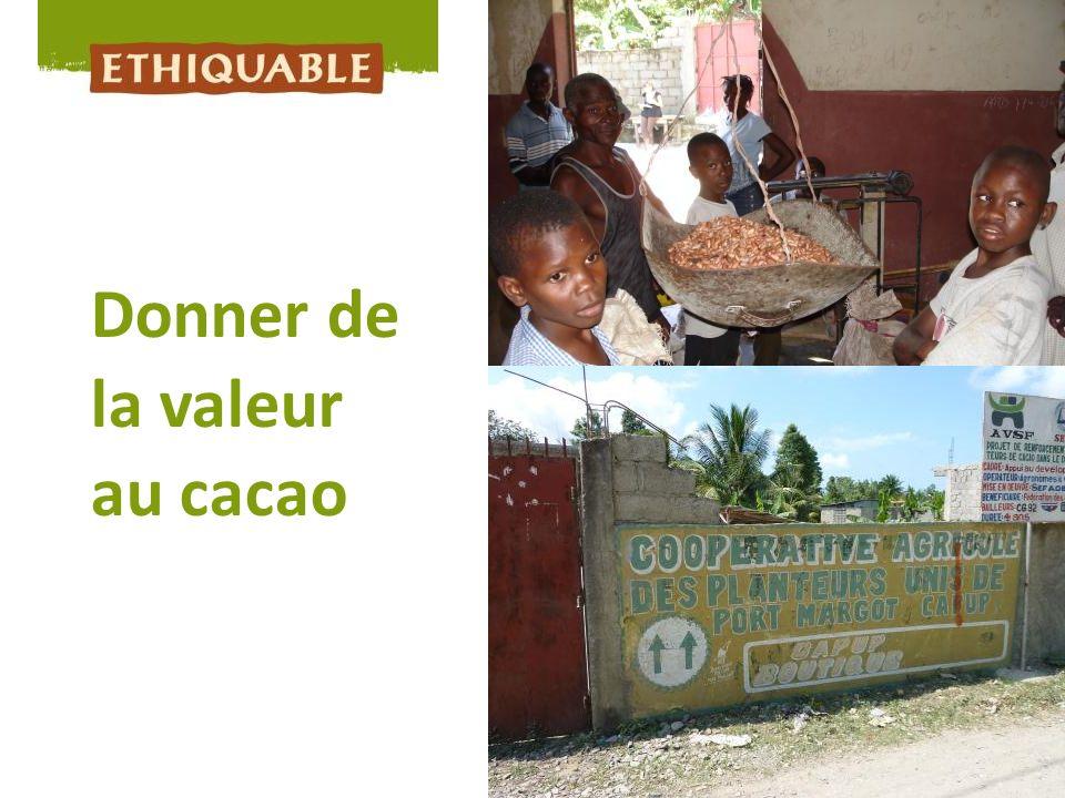 Donner de la valeur au cacao