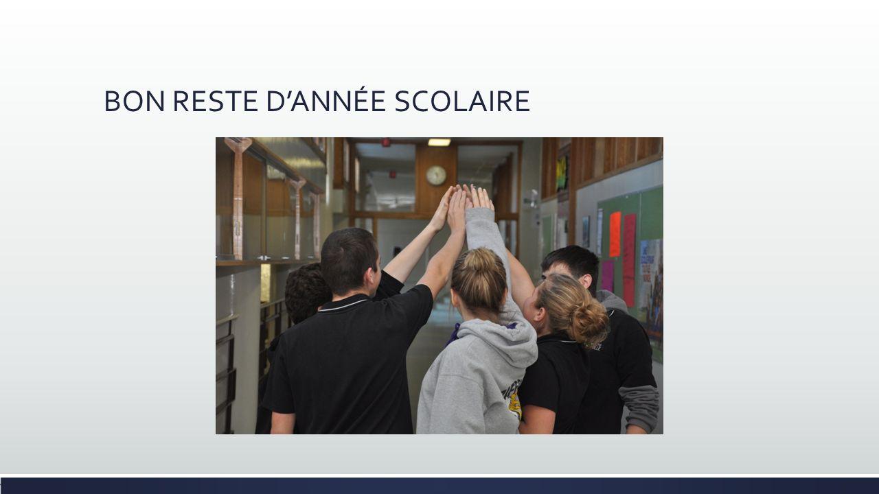 BON RESTE DANNÉE SCOLAIRE