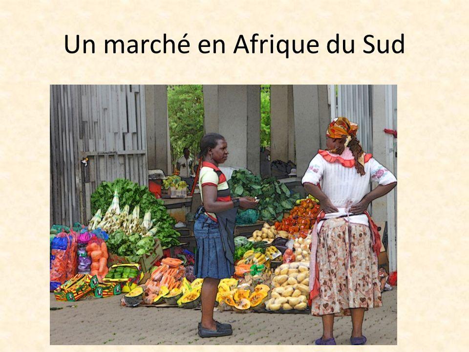 Un marché en Afrique du Sud