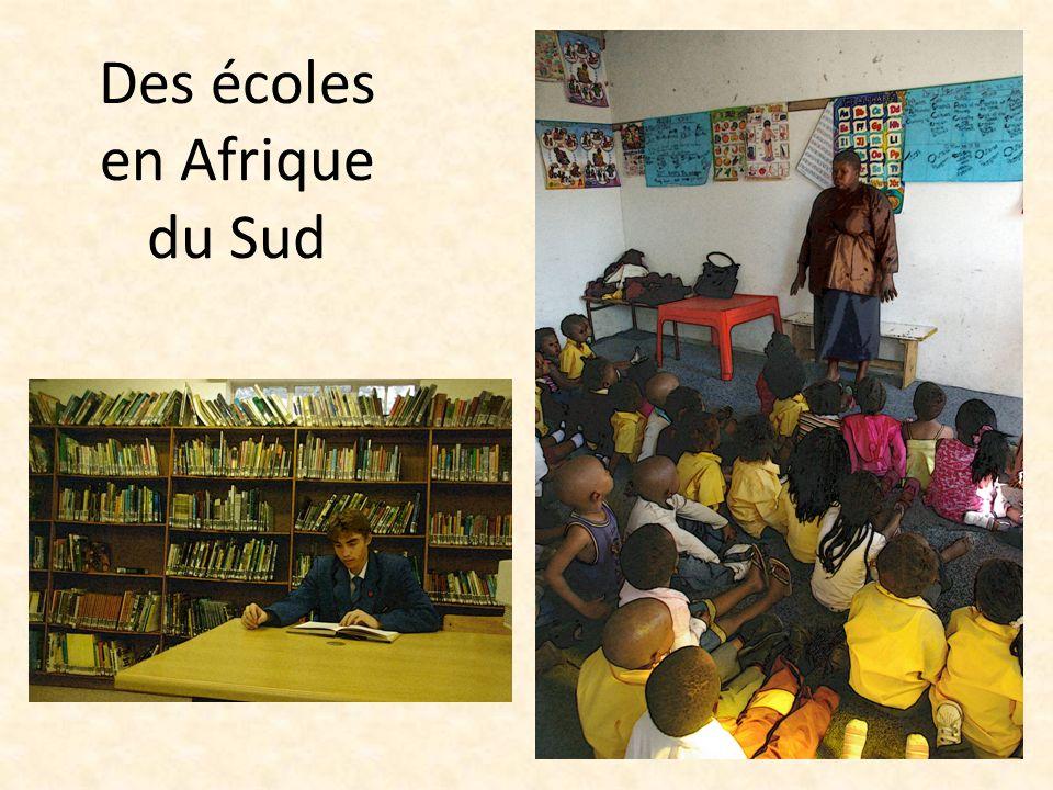 Des écoles en Afrique du Sud